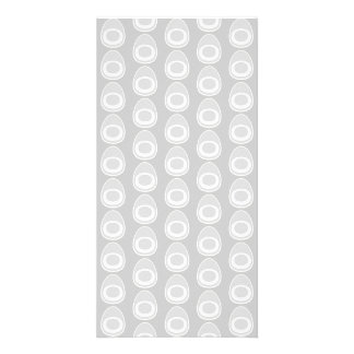 Light Gray Abstract Pattern Customized Photo Card