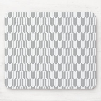Light Gray and White Arrow Tails Mouse Pad