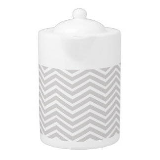 Light Gray and White Chevron Stripes Pattern
