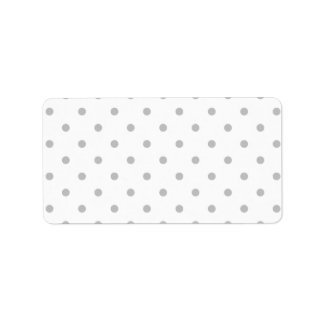 Light Gray and White Polka Dot Pattern. Address Label