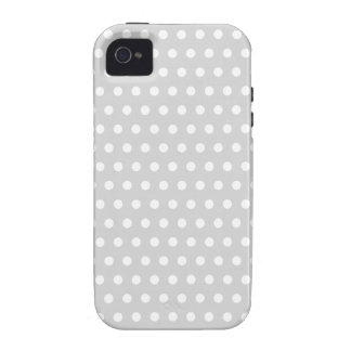 Light Gray and White Polka Dot Pattern iPhone 4/4S Cover
