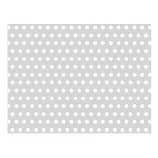Light Gray and White Polka Dot Pattern. Postcard