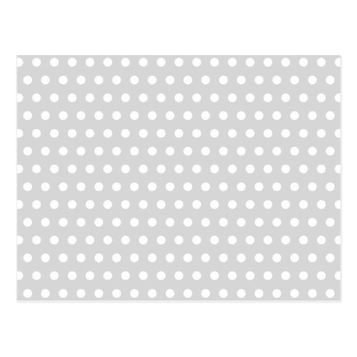 Light Gray and White Polka Dot Pattern. Postcards
