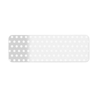 Light Gray and White Polka Dot Pattern. Return Address Label