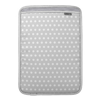 Light Gray and White Polka Dot Pattern. Sleeve For MacBook Air