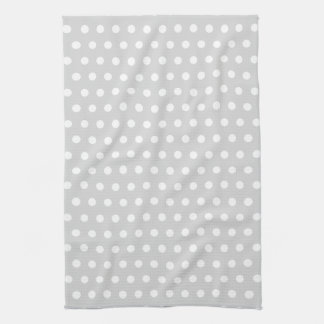 Light Gray and White Polka Dot Pattern. Towels