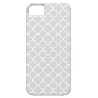 Light Gray and White Quatrefoil Patterns iPhone 5 Cover