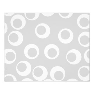 Light gray and white retro pattern custom flyer