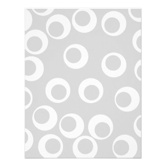 Light gray and white retro pattern personalized announcements