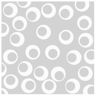 Light gray and white retro pattern. standing photo sculpture