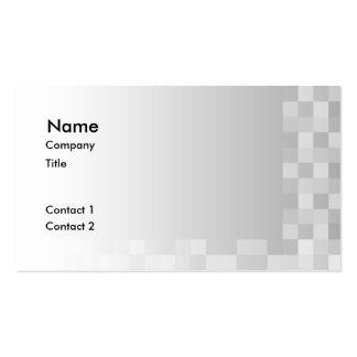 Light Gray and White Squares Pattern. Business Card