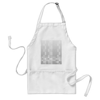 Light Gray and White Squares Pattern. Standard Apron