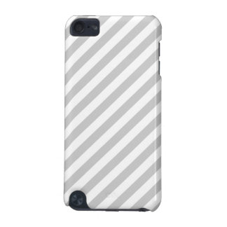 Light Gray and White Stripes. iPod Touch (5th Generation) Cover