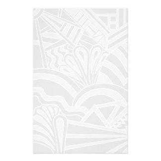 Light Gray Art Deco Style Design. Customized Stationery