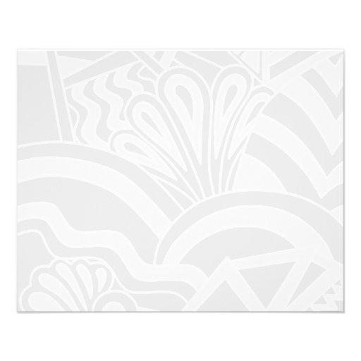 Light Gray Art Deco Style Design. Custom Flyer