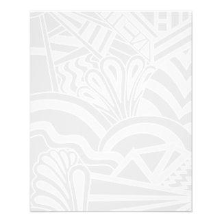 Light Gray Art Deco Style Design Full Color Flyer