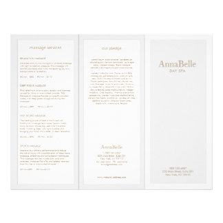 Light Gray Beauty Hair Salon Spa TriFold Brochure