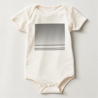 Light Gray. Elegant Design. Baby Bodysuit