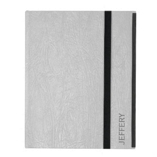 Light Gray Faux Leather Look Avery Binder iPad Cases