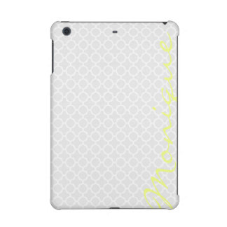 light gray glamour pattern with lemon text