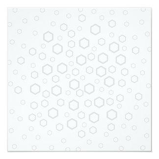 Light Gray Hexagon Outlines. Pattern. Custom Invite