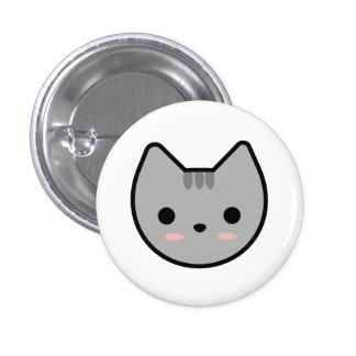 Light Gray Kitten Button