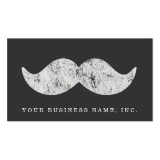 Light Gray Mustache (letterpress style) Pack Of Standard Business Cards