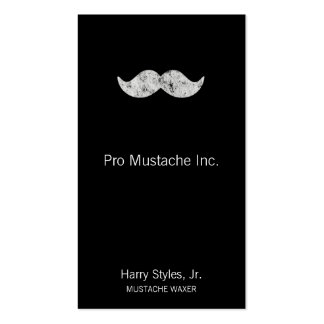 Light Gray Mustache Pack Of Standard Business Cards