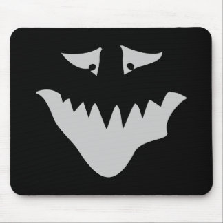 Light Gray Scary Face. Monster. Mouse Mat