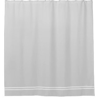Light Gray shower curtain double line border