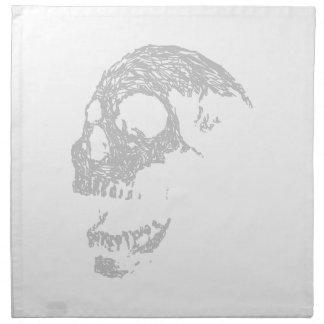 Light Gray Skull. Napkin