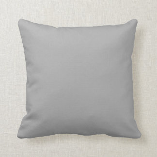 Light Gray Solid Accent Throw Pillows