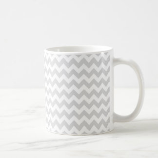 Light Gray White Chevron Zig-Zag Pattern Coffee Mug