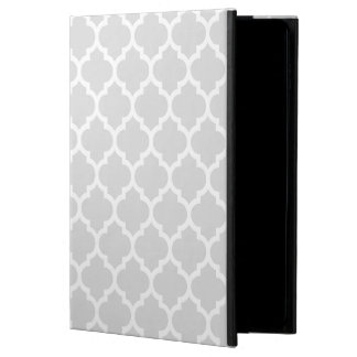 Light Gray White Moroccan Quatrefoil Pattern #5 Powis iPad Air 2 Case