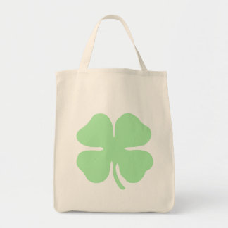 light green 4 leaf clover shamrock png canvas bags
