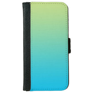 """Light Green And Blue Ombre"" iPhone 6 Wallet Case"