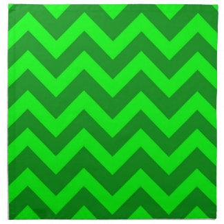 Light Green And Dark Green Chevrons Napkin