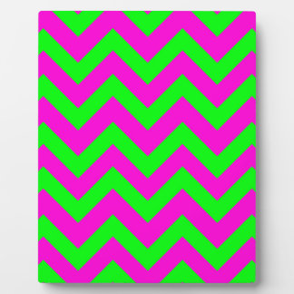 Light Green And Pink Chevrons Plaque