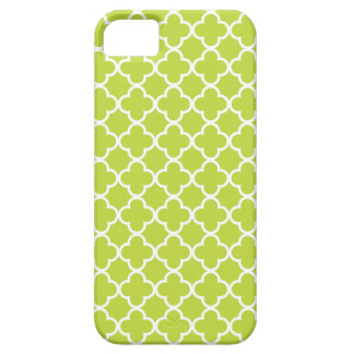 Light Green and White Quatrefoil Patterns Case For The iPhone 5