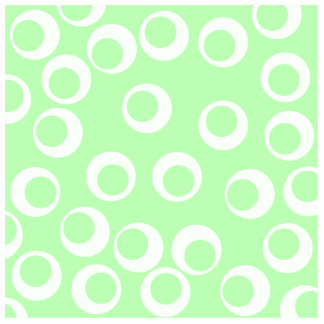 Light green and white retro pattern photo sculptures