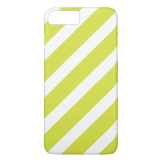 Light Green and White Stripes iPhone 7 Plus Case