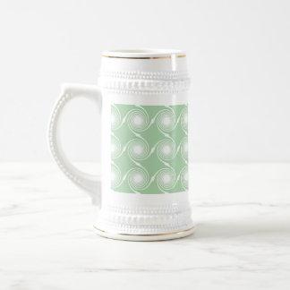 Light green and white swirl pattern. coffee mug