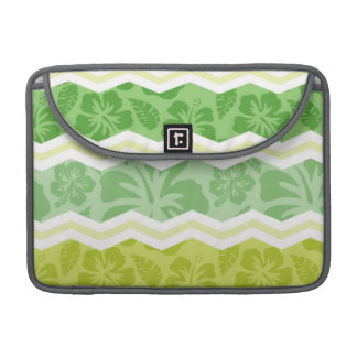 Light Green and Yellow Cute Tropical Pattern Sleeves For MacBook Pro