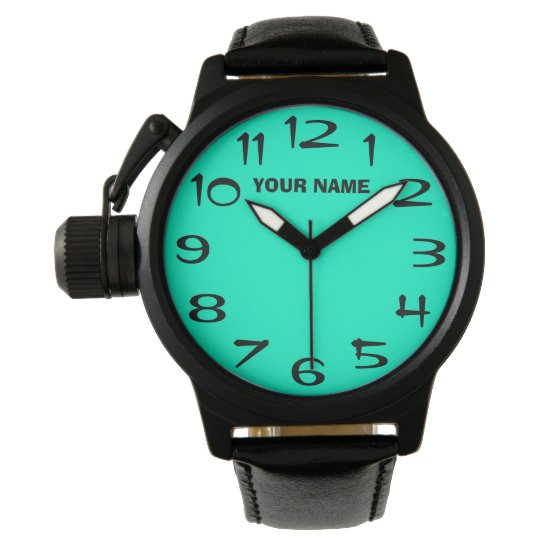 Light Green and Your Own Name Watch
