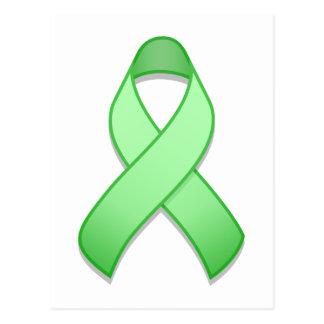 Light Green Awareness Ribbon Postcard