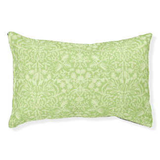 Light Green Baroque Foliage Design Pet Bed