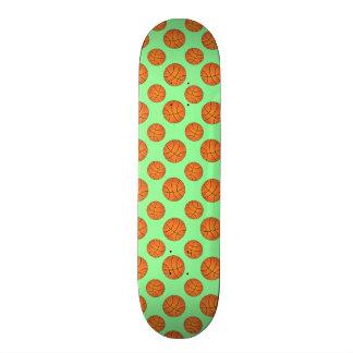 light green basketball pattern skate board deck