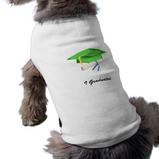 Light green Cap & Diploma Dog T-shirt