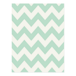 Light Green Chevron Postcard