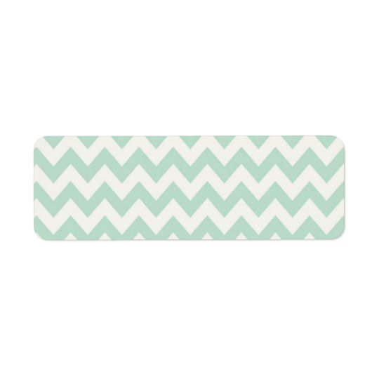 Light Green Chevron Return Address Labels